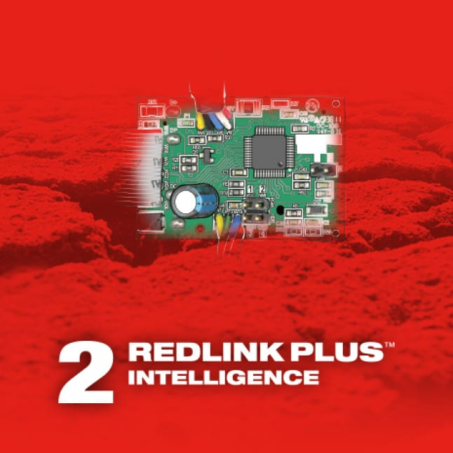 M18 FUEL power tools feature REDLINK PLUS Intelligence for unmatched power, runtime, and durability.