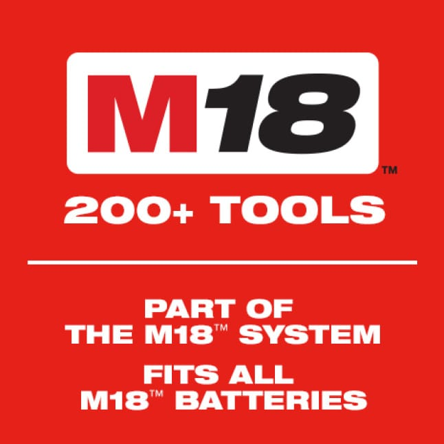 The Milwaukee M18 System offers over 200 cordless solutions.