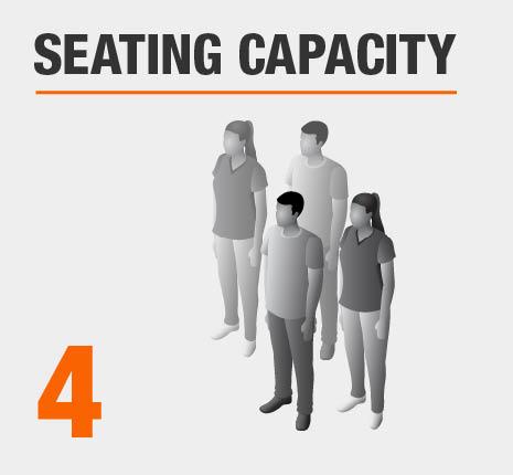Seats 4 People