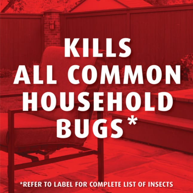 Kills 130+ Listed Insects