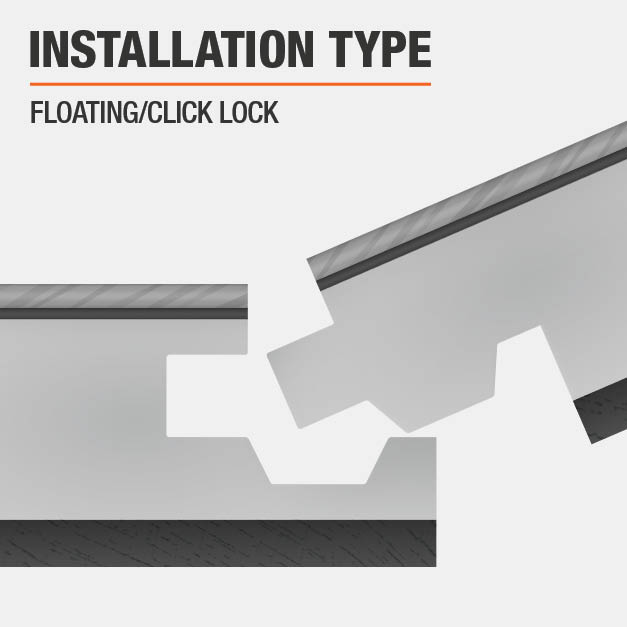 floating click lock flooring