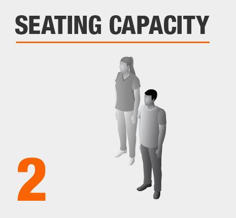 Seats 2 People