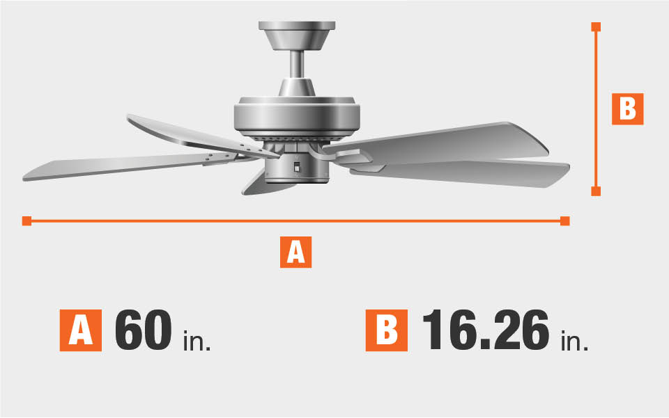 home decorators collection escape ii 60 in. led indoor/outdoor Canvas Ceiling Fan