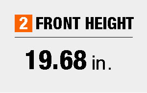 Front height dimensions