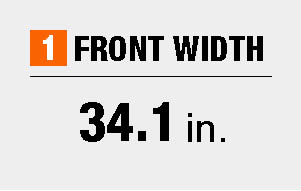 Front width dimensions