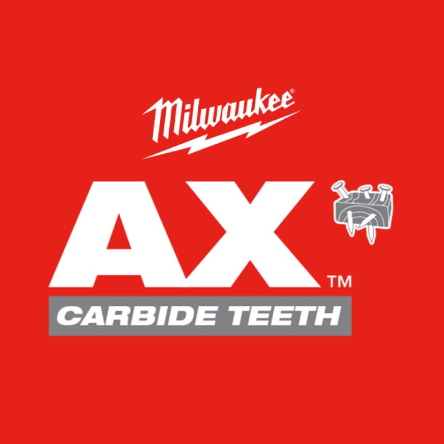 THE AX™ with Carbide Teeth Sawzall Blade delivers 50X Life vs. Standard Bi-Metal Blades
