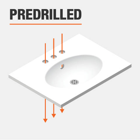 Product feature, predrilled holes