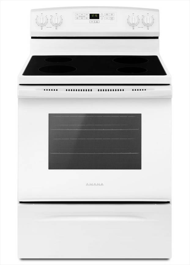 [XOTG_4463]  Amana 4.8 cu. ft. Electric Range in White-AER6303MFW - The Home Depot | Amana Electric Range Wiring Diagram |  | The Home Depot