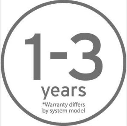 One to three year warranty icon