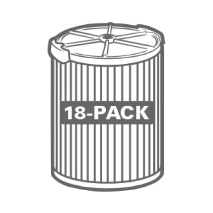 Buy more and save. Significant savings when purchasing the 18-Pack.