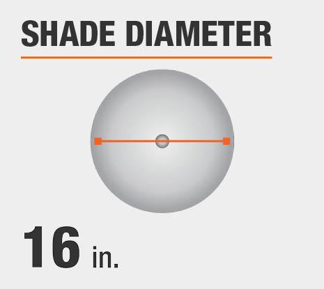 Shade Diameter: 16.00 in.