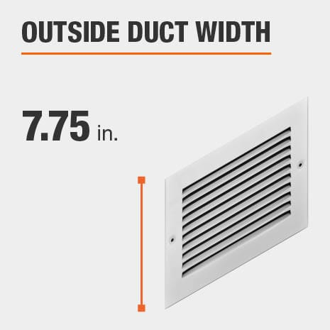 The outside duct width is 7.75 inches.