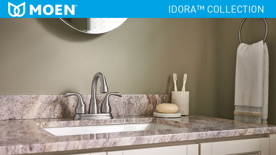 Moen Idora 4 In Centerset 2 Handle Bathroom Faucet In