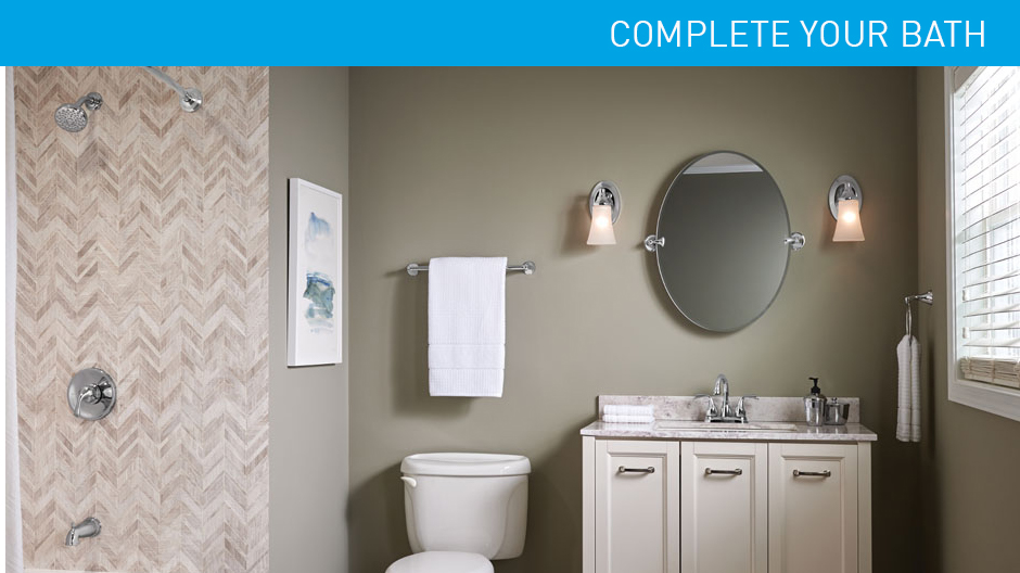 Coordinated bathroom accessories home design plan for Coordinating bathroom accessories