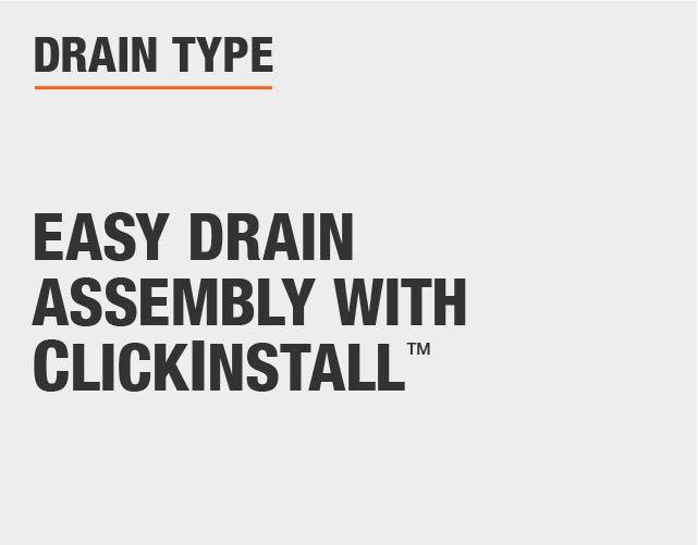 Easy Drain Assembly with ClickInstall