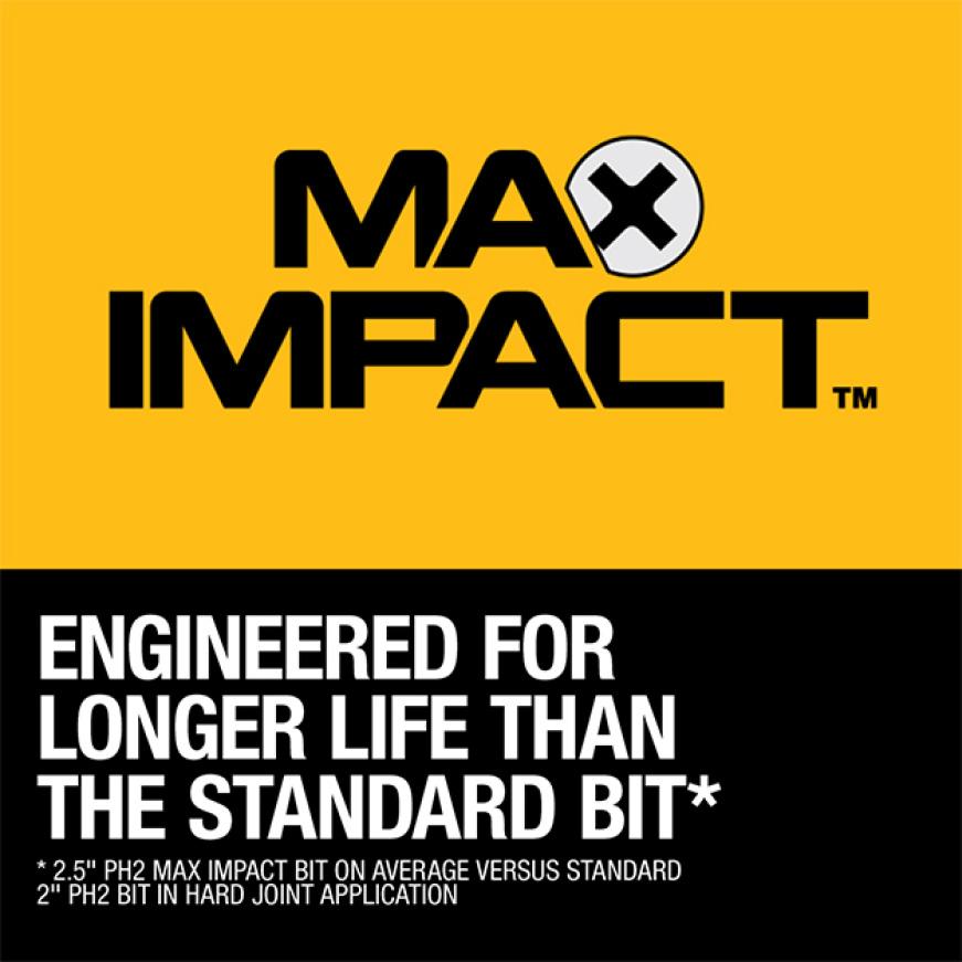 300693948 DWA38ADPTMI MAX Impact 1/4 in. to 3/8 in. Adaptor MAX IMPACT Screwdriving Bits