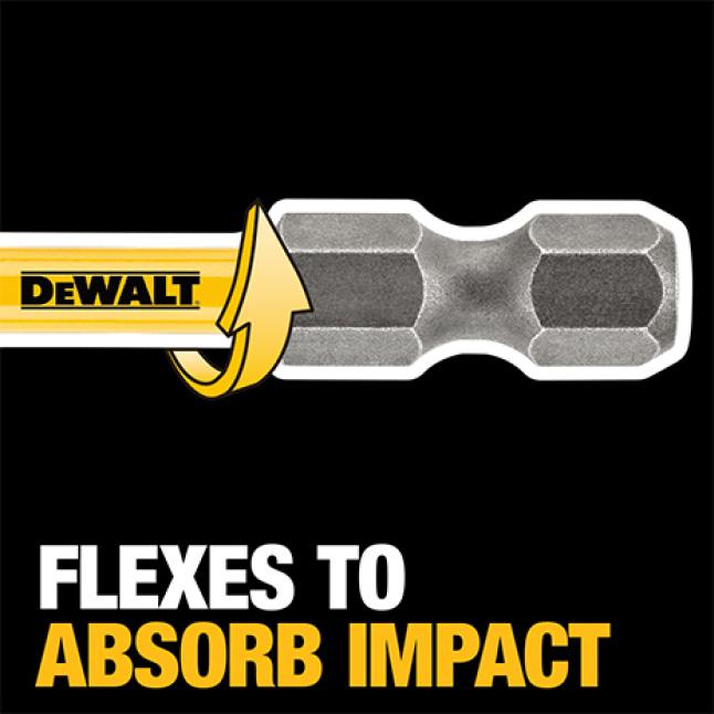 300693948 DWA38ADPTMI MAX Impact 1/4 in. to 3/8 in. Adaptor Transfer Optimal Torque