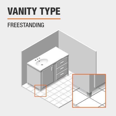 This bath vanity is freestanding.