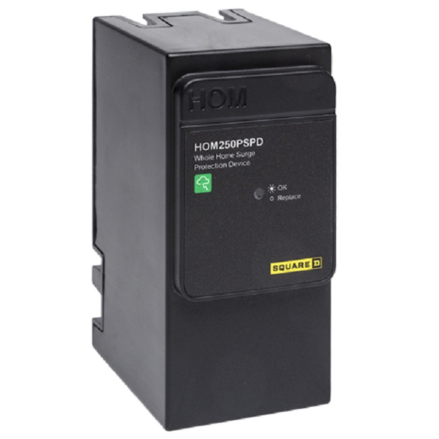 HOM250PSPD requires 2 spaces in any Square D HOM Plug-on Neutral load center or CSED. No wiring required.