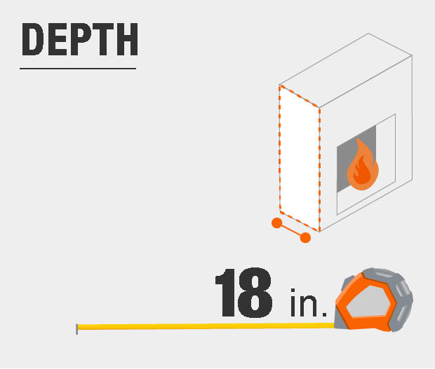 Product dimensions, depth.
