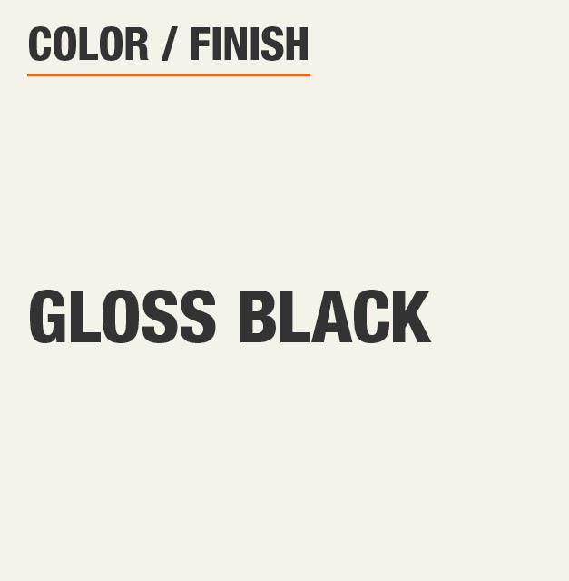 Gloss Black Storage Bench