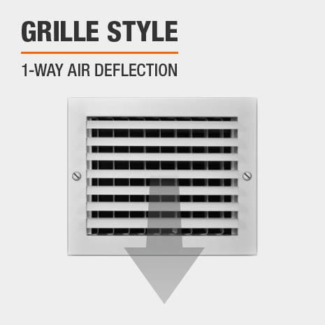 This product has a 1-Way Air Deflection style.