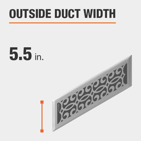 The outside duct width is 5.5 inches.