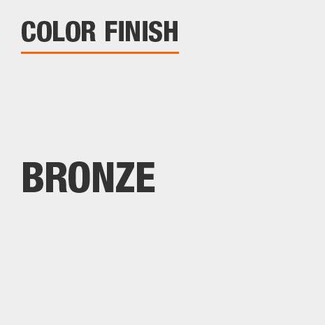 This bathroom vanity mirror color finish is Bronze