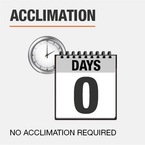 Minimum Acclimation Required