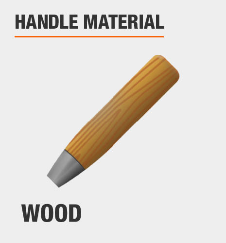 The handle material is wood.