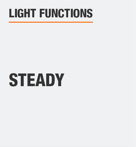 The light function is steady