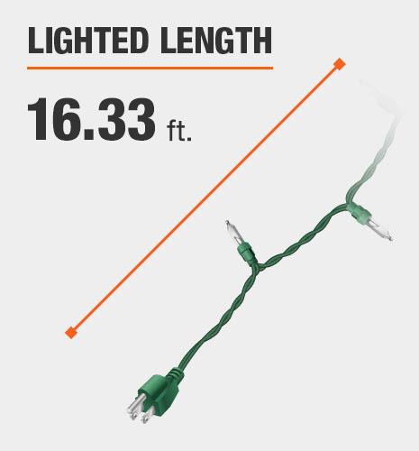 The lighted length is 13 feet