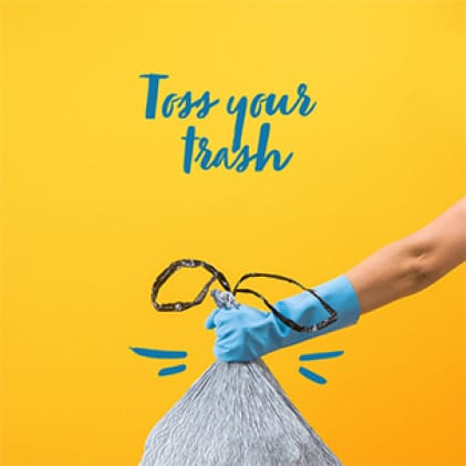 How to clean your trash can