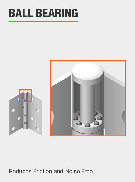 Door Hinge Ball Bearing feature Reduces Friction and Noise Free