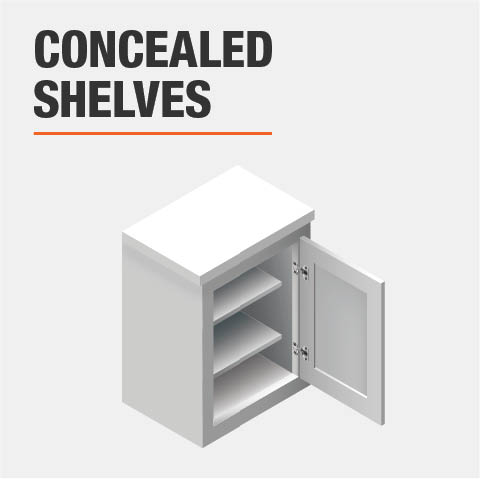 Product feature, Concealed shelves