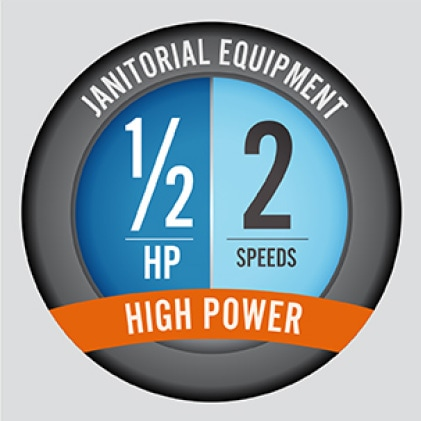 The VP-50 boasts a ½ hp motor to get the job done in the quickest time possible.