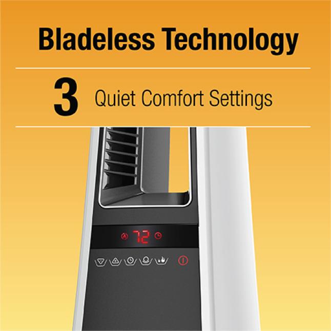 Bladeless Technology / 3 Quiet Settings