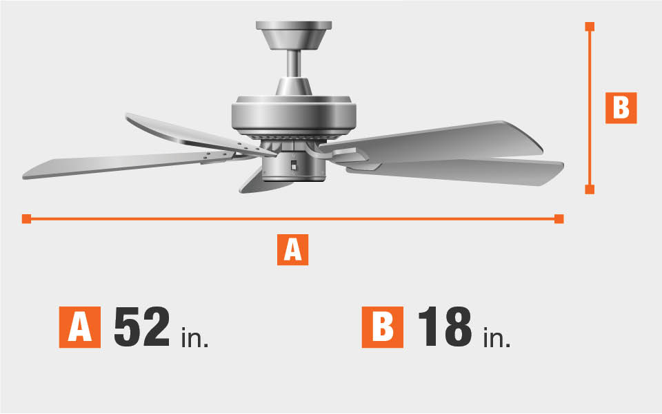 Hampton Bay Rothley 52 In Led Brushed Nickel Ceiling Fan