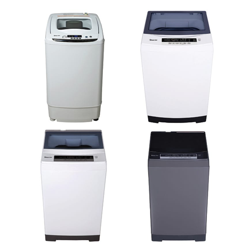 Magic Chef Portable Top Load Washers are available in a variety of colors and sizes