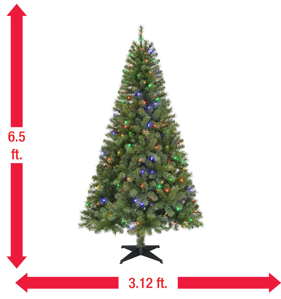 Home Accents Holiday 6.5 ft. Pre-Lit LED Greenville Spruce ...