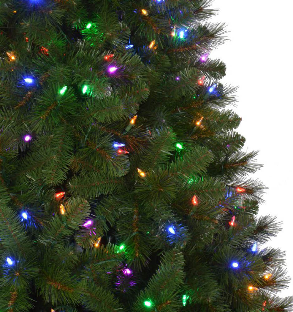 Home Accents Holiday 7.5 ft. Pre-Lit LED Wesley Artificial Christmas ...