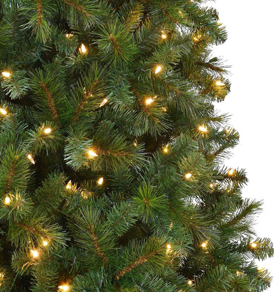 Home Accents Holiday 9 ft. Pre-Lit LED Wesley Spruce Artificial ...
