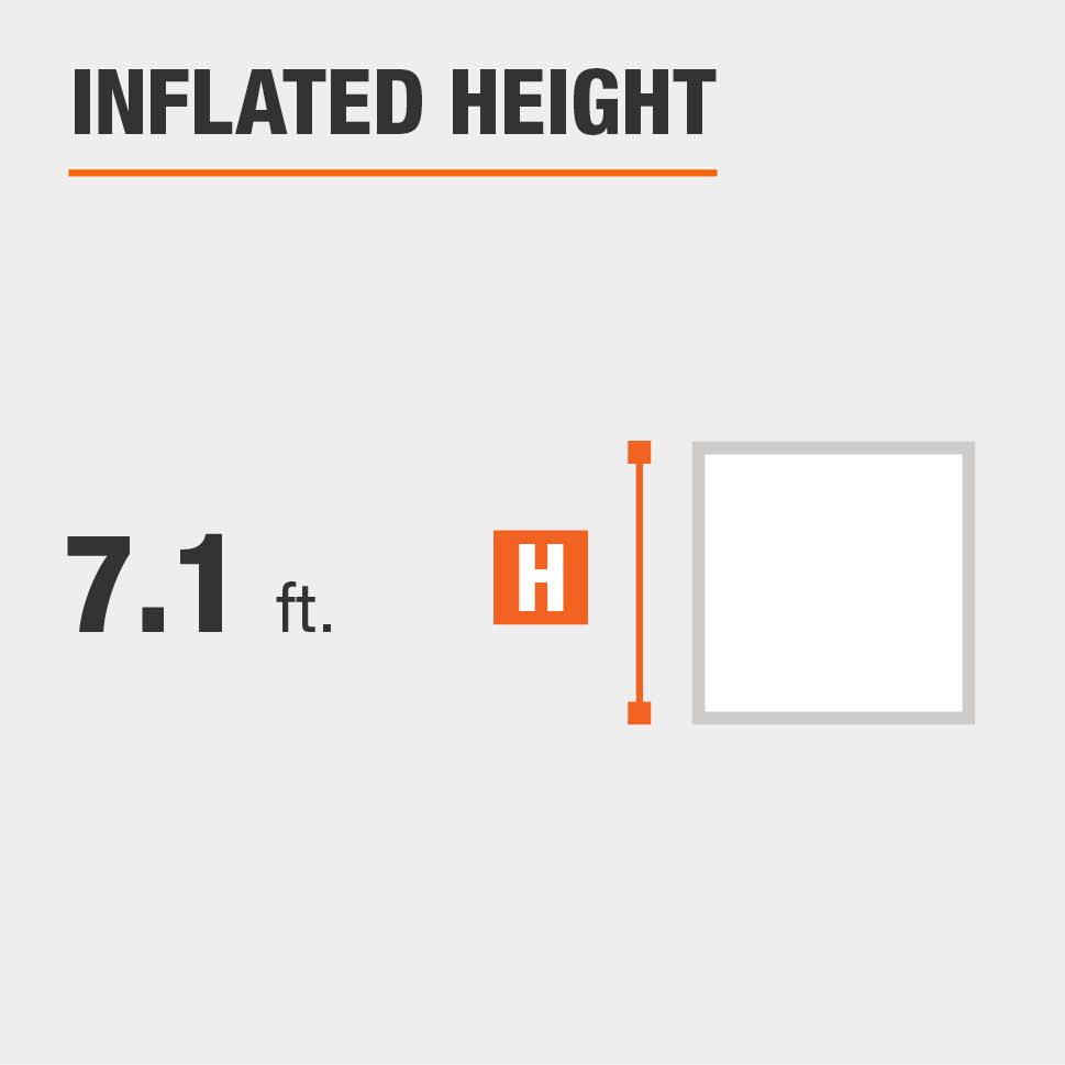 Inflated height is 7.1 feet