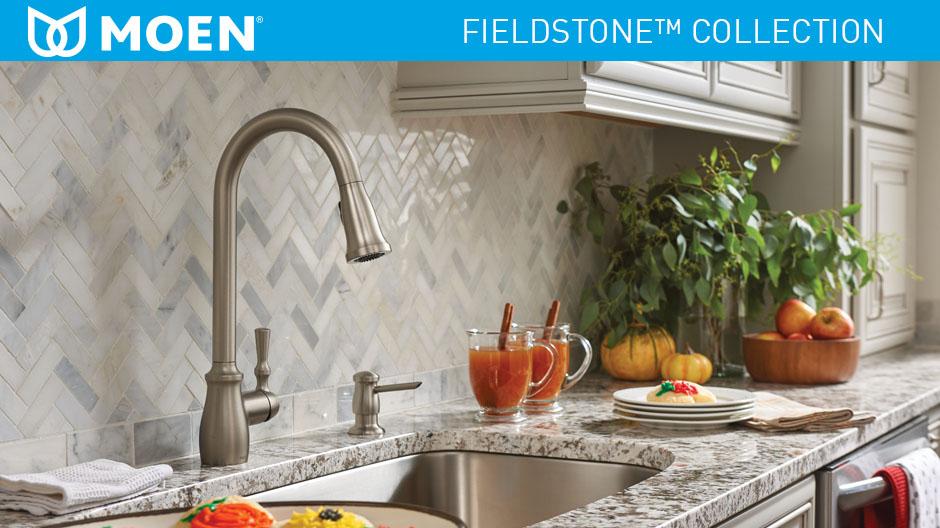 Moen Fieldstone Single Handle Pull Down Sprayer Kitchen