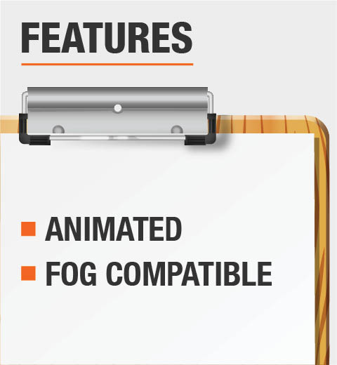 This product is animated and compatible with fog machines