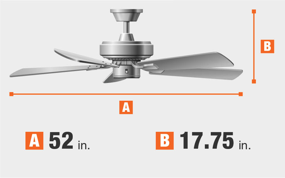 Ceiling Fan Dimensions Blade Span And Height Finish Traditional Large Room Indoor In Polished Brass
