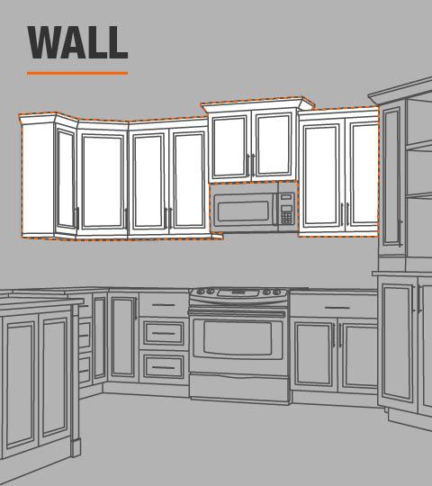 Refrigerator Wall Cabinet: Hampton Bay Hampton Assembled 36x24x24 In. Above