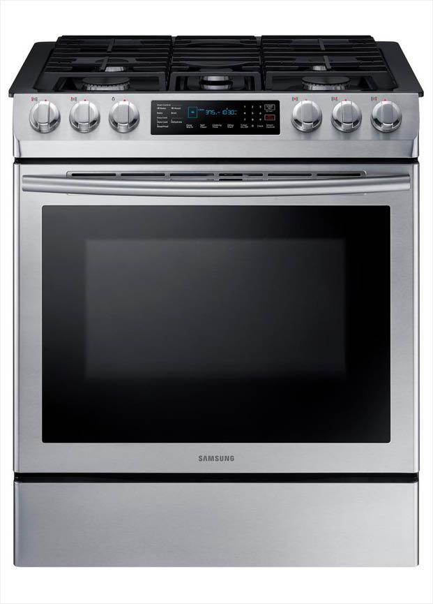 Samsung 30 In 5 8 Cu Ft Single Oven Gas Slide In Range