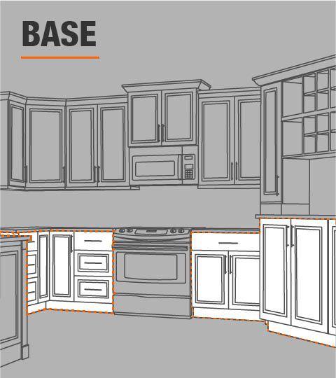 Kitchen Cabinet Door Replacement Options: Hampton Bay Hampton Assembled 30x34.5x24 In. Pots And Pans