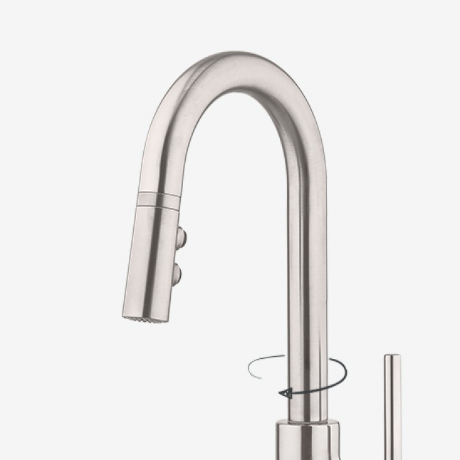 Pfister Stellen Single-Handle Bar Faucet With Pull-Down